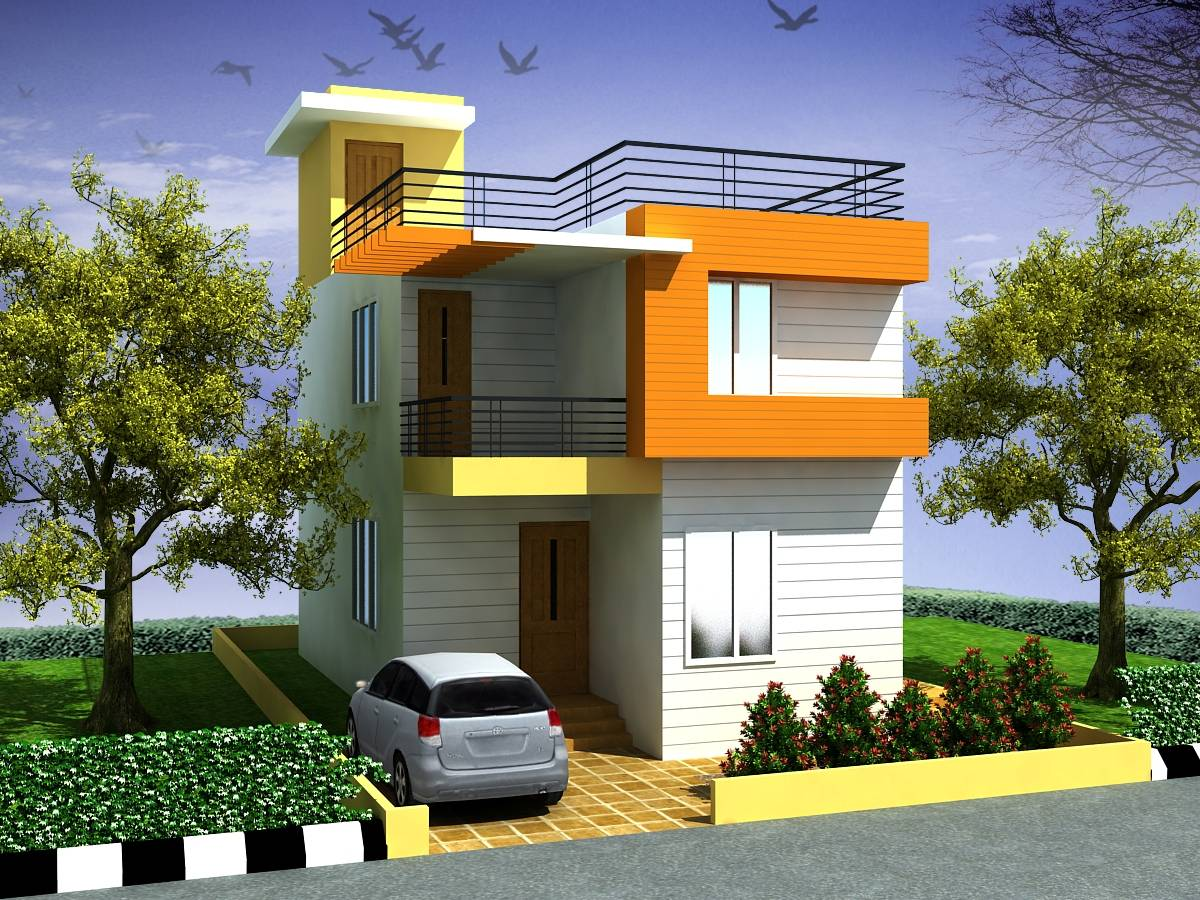 Awesome Small Duplex House Designs Best Design House Plans 135728