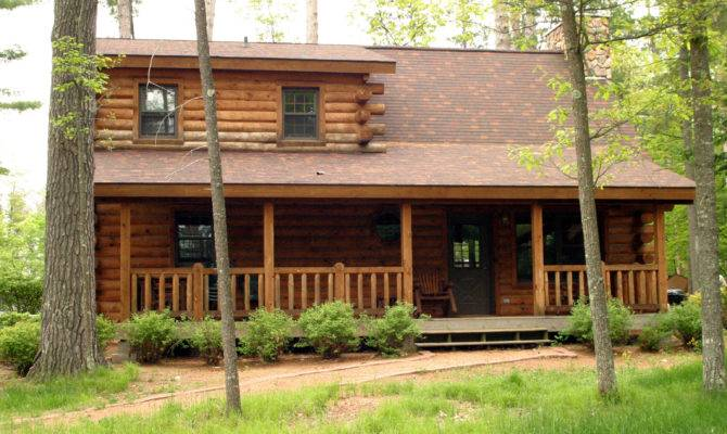 Awesome Two Bedroom Log Homes House Plans