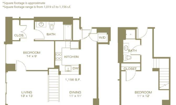 Awesome Two Bedroom Townhouse Floor Plan Home