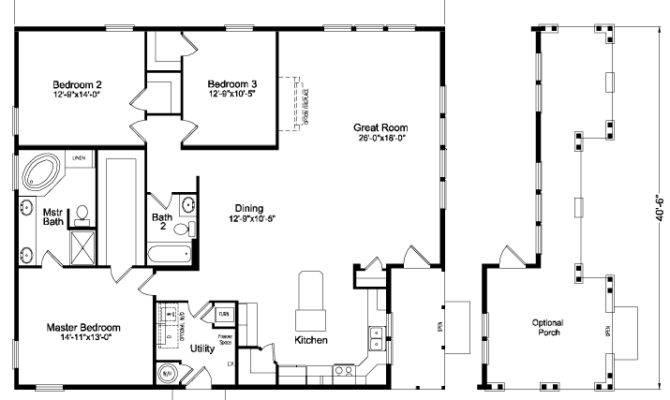 Bachelor Home Floor Plan Manufactured Modular