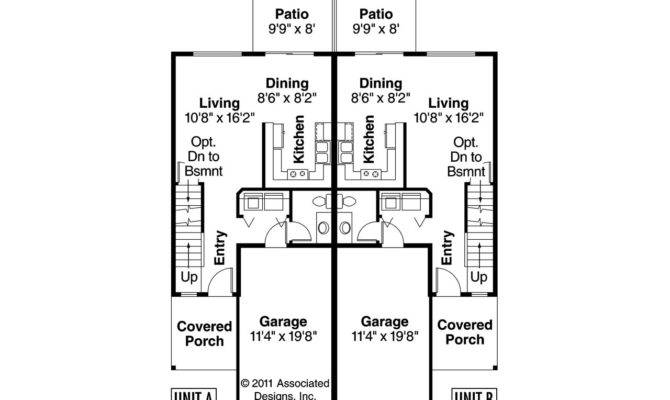 Back Duplex Floor Plans Narrow