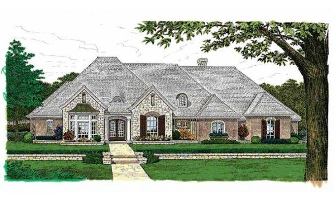 Back One Story Country House Plans