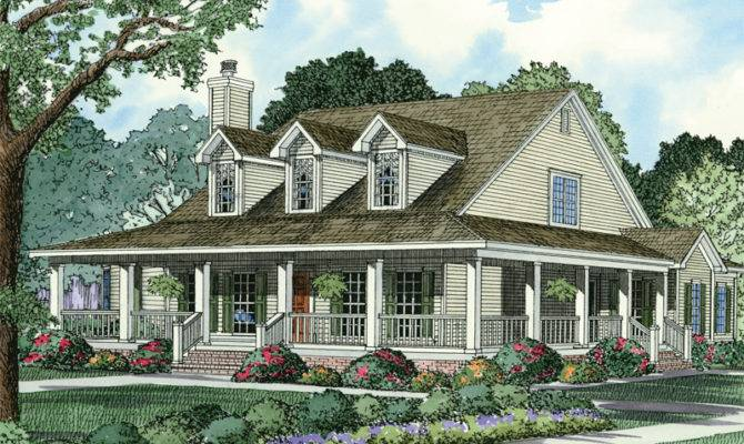 Back Ranch Style House Plans Porch