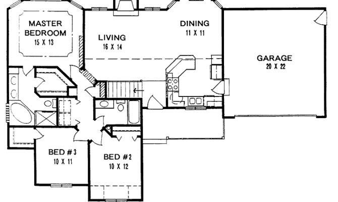 Back Simple Ranch House Plans