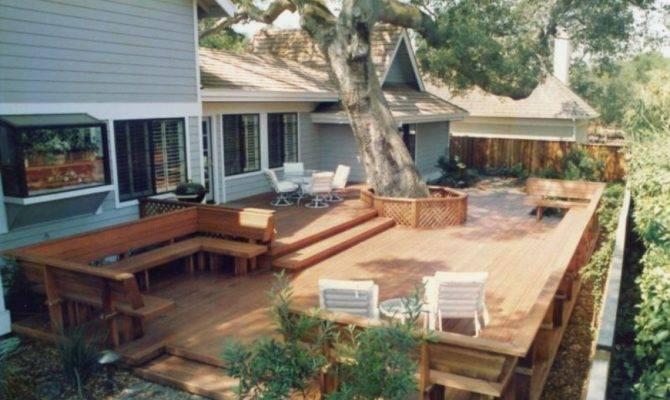 Backyard Decks Large Deck Has Lot