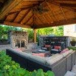 Backyard Gazebo Fireplace Pergola Gazebos