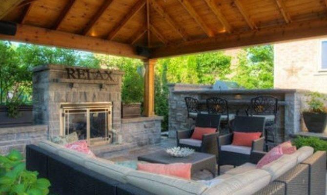 Backyard Gazebo Fireplace Pergola Gazebos