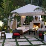 Backyard Gazebo Fireplace Pergolas