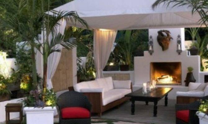 Backyard Gazebo Fireplace Pergolas