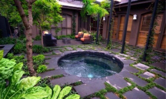 Backyard Hot Tub Designs Large Beautiful Photos