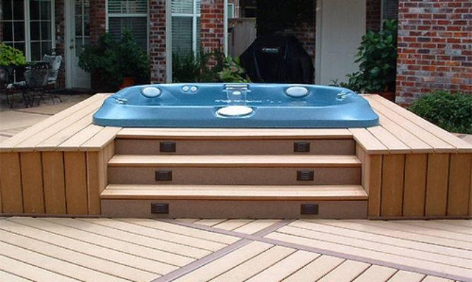 Backyard Patio Ideas Hot Tub Landscaping