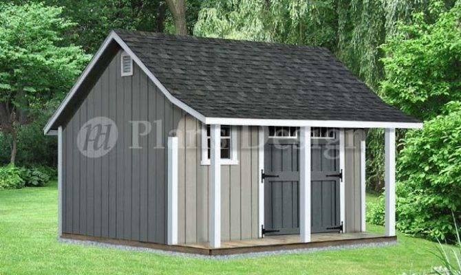Backyard Storage Shed Porch Plans