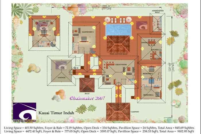Bali Love Tropical House Plans House Plans 60319