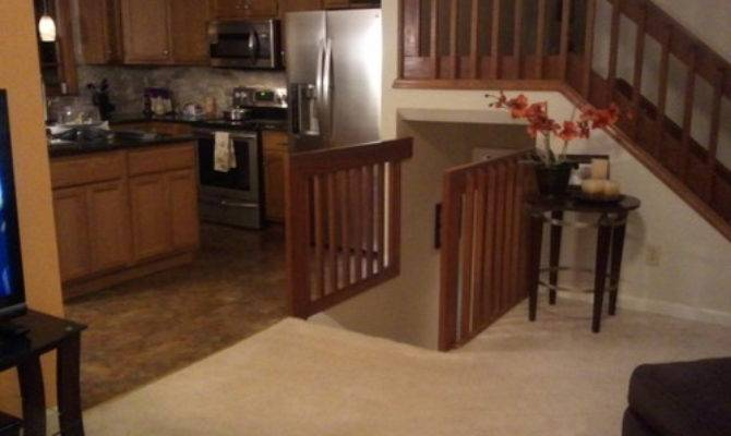 Banisters Split Level Home Transitional Style