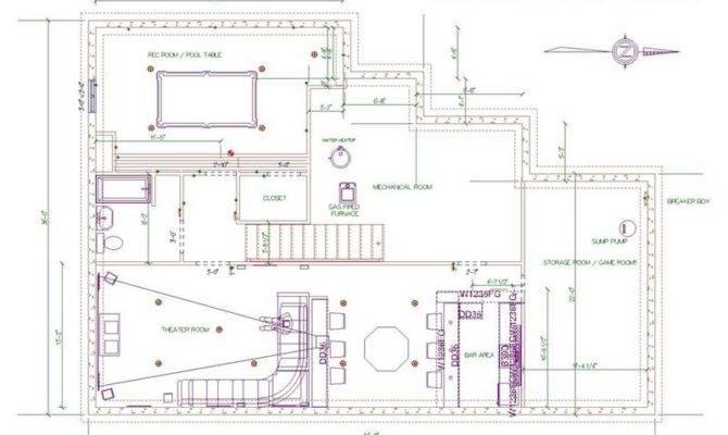 Bar Plans Layouts Basement House Plans 128338