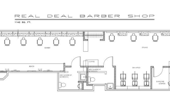 Barber Shop Floor Plan Layout Real Deal Plans House Plans 11051