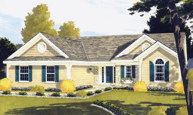 Barbora Colonial Ranch Home Plan House Plans