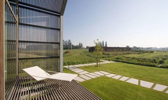 Barn House Shaped Terrace Modern Simple