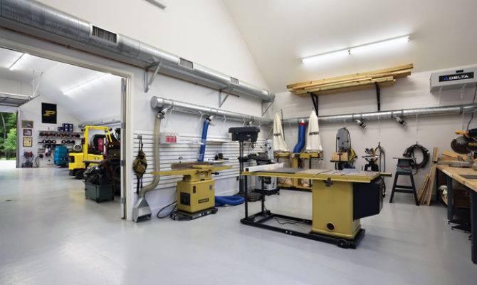 Barn Shop Interior Contemporary Garage Shed