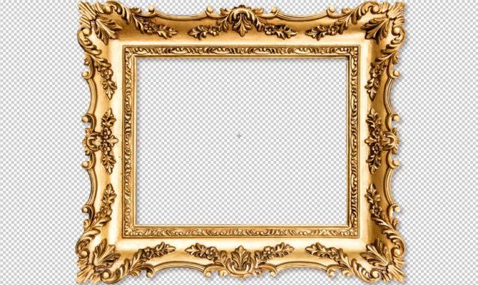 Baroque Golden Frame Objects Creative Market