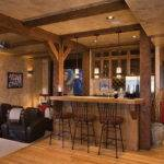 Basement Bar Designs Ornamental Leaves
