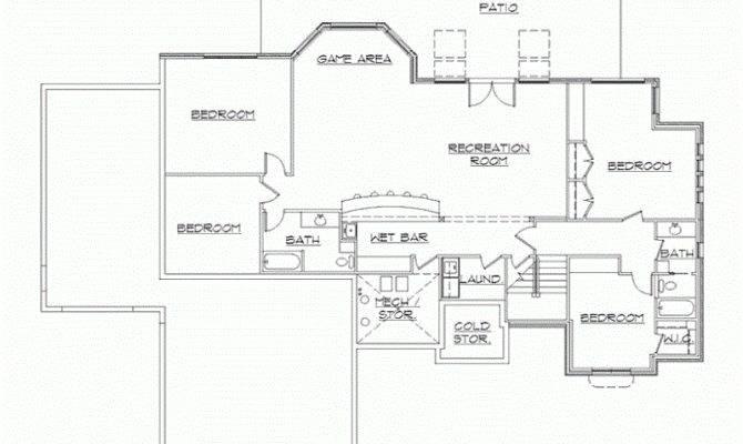 Basement Eplans Rambler Floor Plan Plans Home