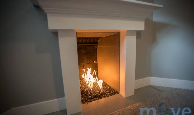 Basement Fireplace Home Pinterest