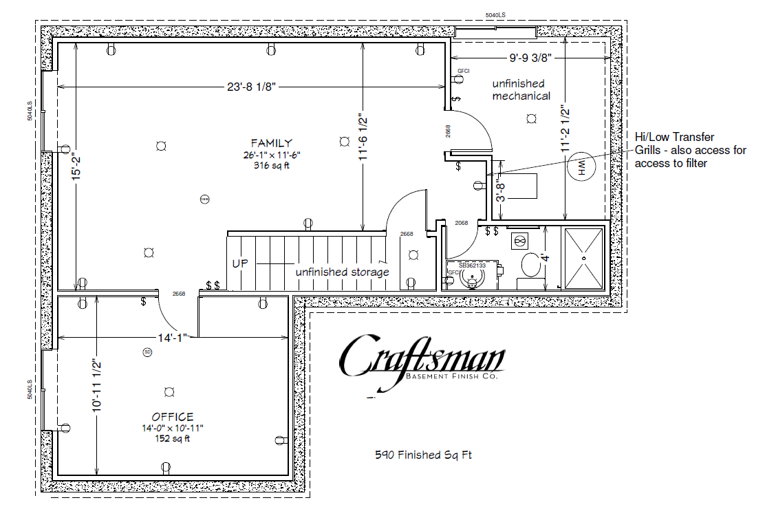Basement Floor Plan Craftsman Finish Colorado Springs House Plans 52278