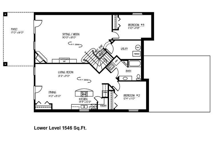 Basement Floor Plans Simple House Plans 1867