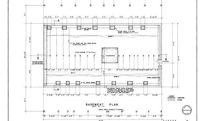 Basement Floor Structural Plan Amoureaux House
