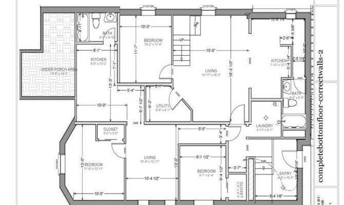 Basement Garage Apartment Floor Plans Stroovi