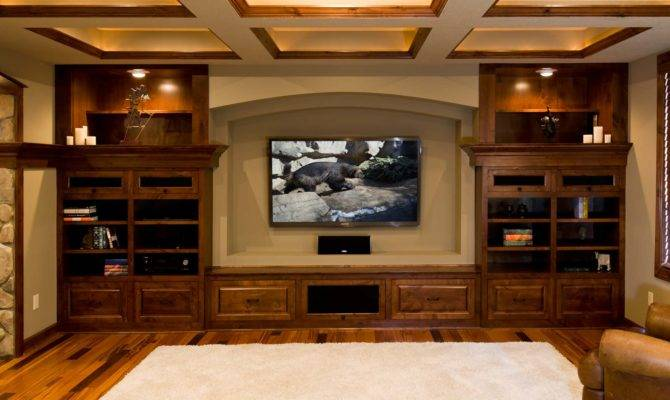 Basement Home Theater Wood Trim Finished Company