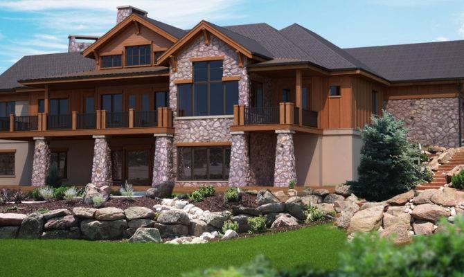 Basement House Plans Walkout Ranch Style Floor Monument