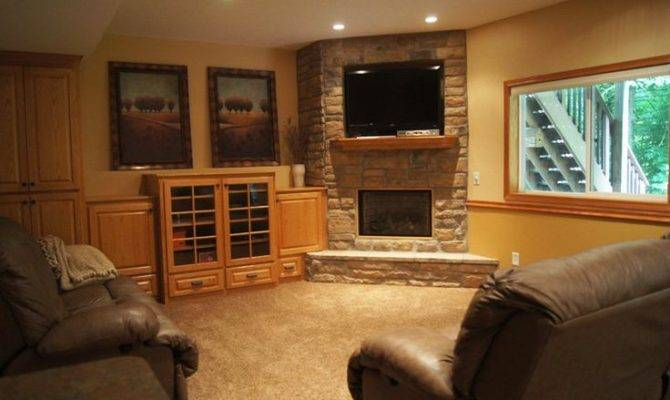 Basement Project Gas Fireplace Custom Placement
