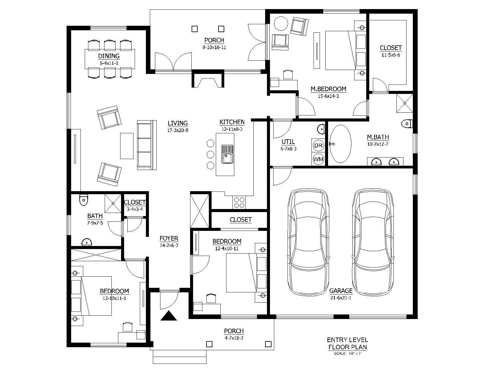Basic House Plan Plans Main Floor House Plans 42986