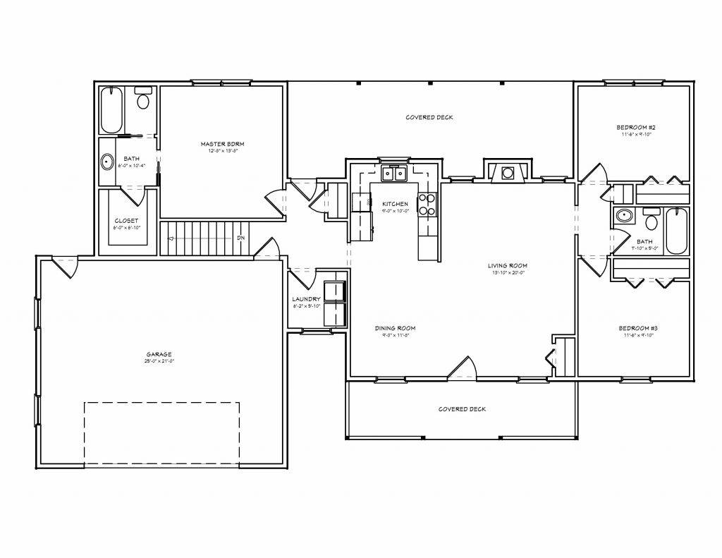 Basic Ranch Style House Plans New Small Floor - House ...