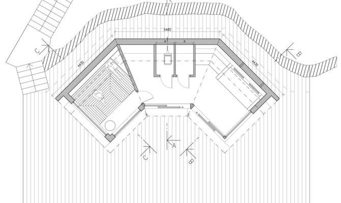 Bastu Sauna Tiny Reatreat Hans Murman Sweden Floor Plan