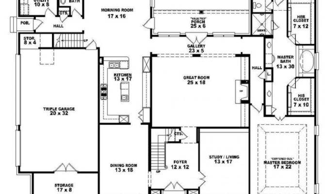 Bath French Style House Plan Plans Floor Home