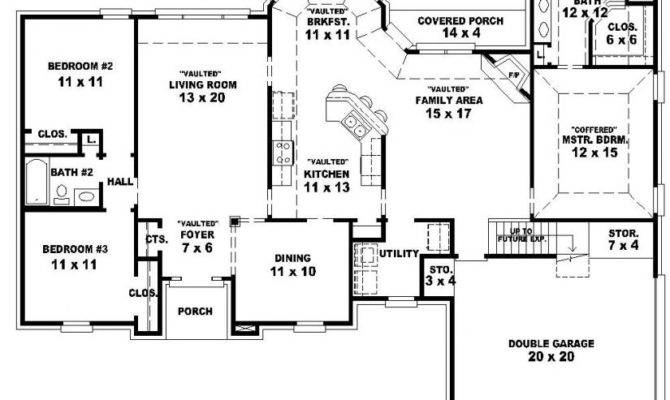Bath French Traditional Style House Plan Plans Floor