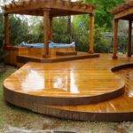 Bathroom Best Outdoor Hot Tub Deck Ideas