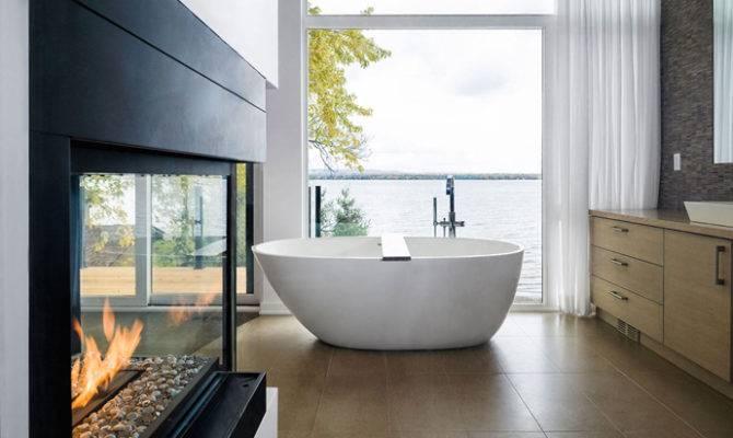 Bathroom Fireplaces Make Any Bath Wow Therapy Designrulz