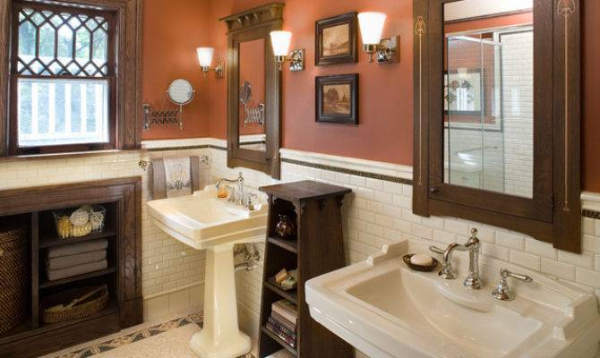 Bathroom Hill House Craftsman New York