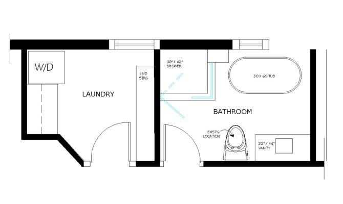 Bathroom Laundry Room Floor Plans Home Design Ideas House Plans 160242