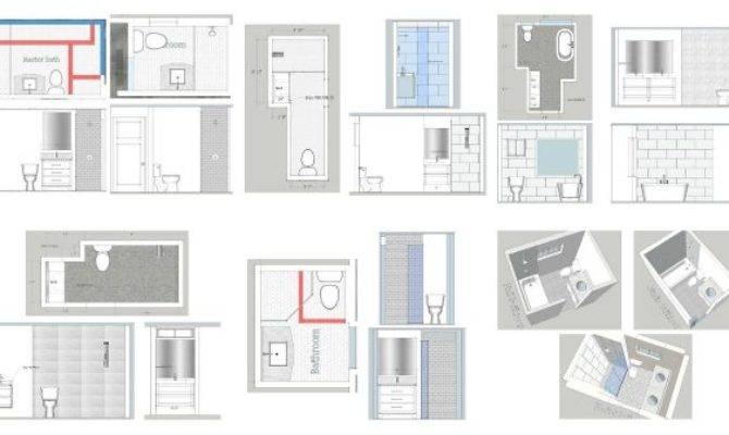 Bathroom Layouts Mostly Rectangular Space