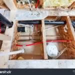 Bathroom Remodel Showing Under Floor Plumbing
