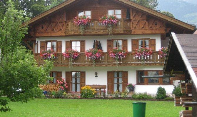 Bavarian Style Charming Course Those Flower Boxes House