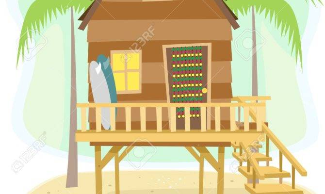 Beach Clipart House Pencil Color