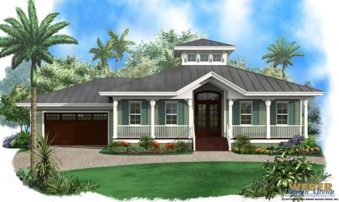 Beach House Plan Old Florida Style Home Floor