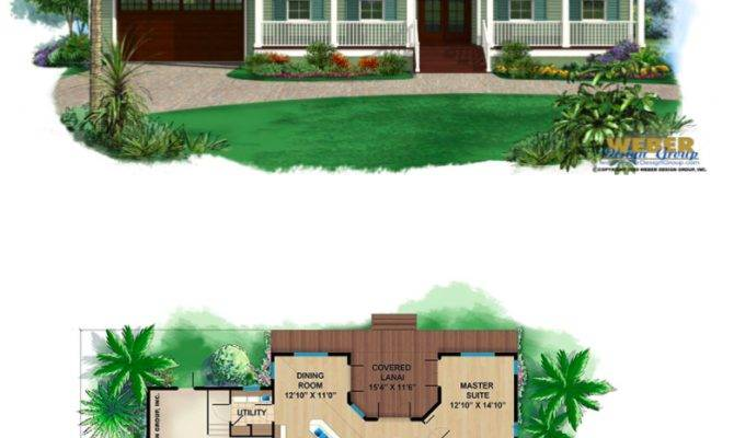 Beach House Plan Old Florida Style Home Floor