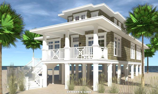 Beach House Plans Front